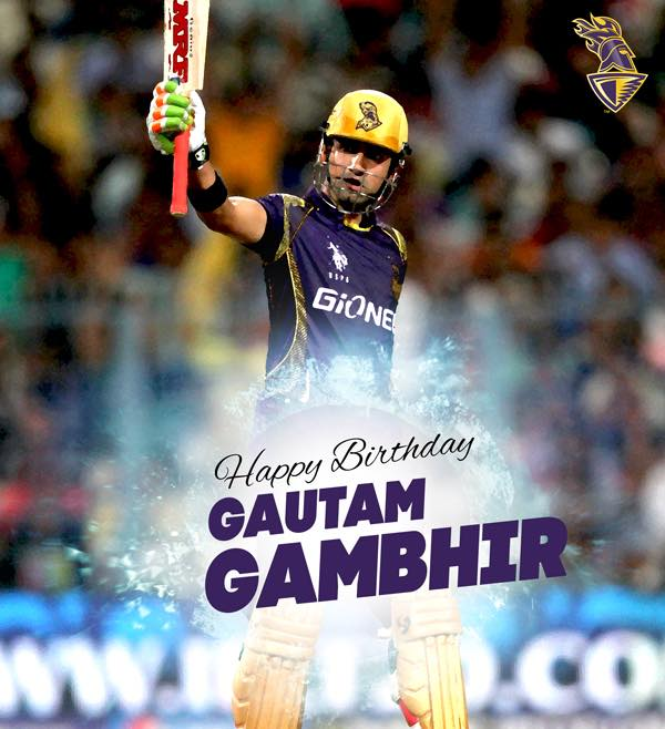 Gautam Gambhir have a great day my friend and a fantastic life. Happy Birthday and lots of love. Have a good one.