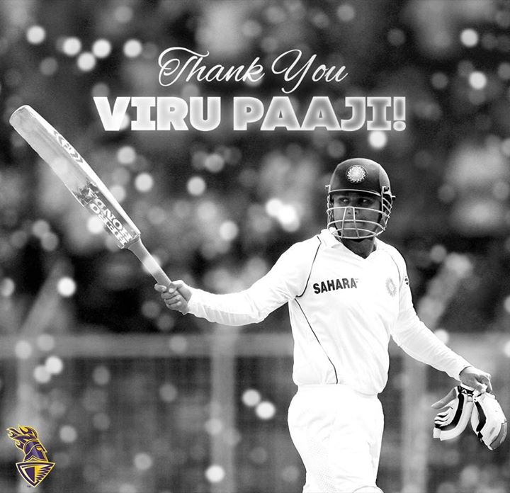 Will miss you on the field yaar Virender Sehwag. You are the gentlest coolest & bravest of sportsmen I have ever come across. Love & health to you!