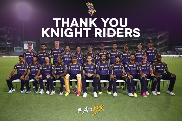Can't deny, feeling very sad we didn't get it right. Ami KKR till next year now. Sometimes our best is just not good enough. All the best SRH.