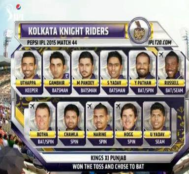 And my other boys….Kolkata Knight Riders…go forth and flourish today. Best of luck & welcome to our City KXIP….