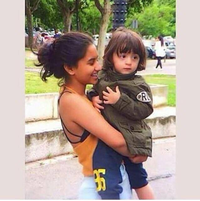 Just saw this on the net, AbRam in Barcelona with his cousin sister Alia.