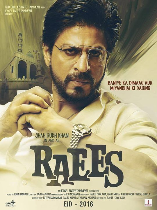The official first poster of #Raees is here! Have a look and let me know what you guys think!  #RaeesTeaserAt9