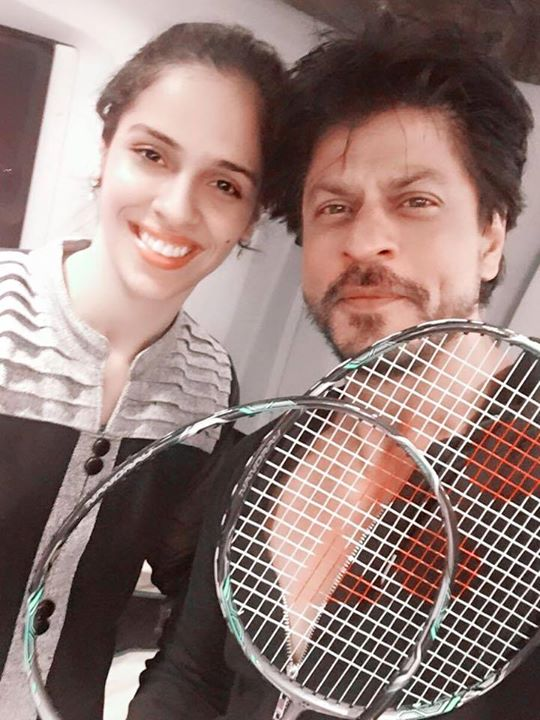 Made sure Saina Nehwal had no strings in her racquet..maybe the only way to beat her at badminton. You have a lovely family.
