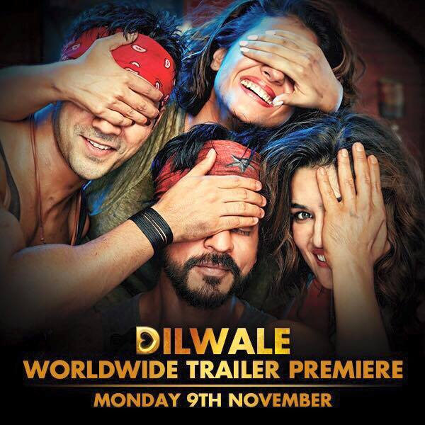 Our Dilwale Director Rohit was not allowing us to reveal our first look. So we have outsmarted him by releasing only half a look.