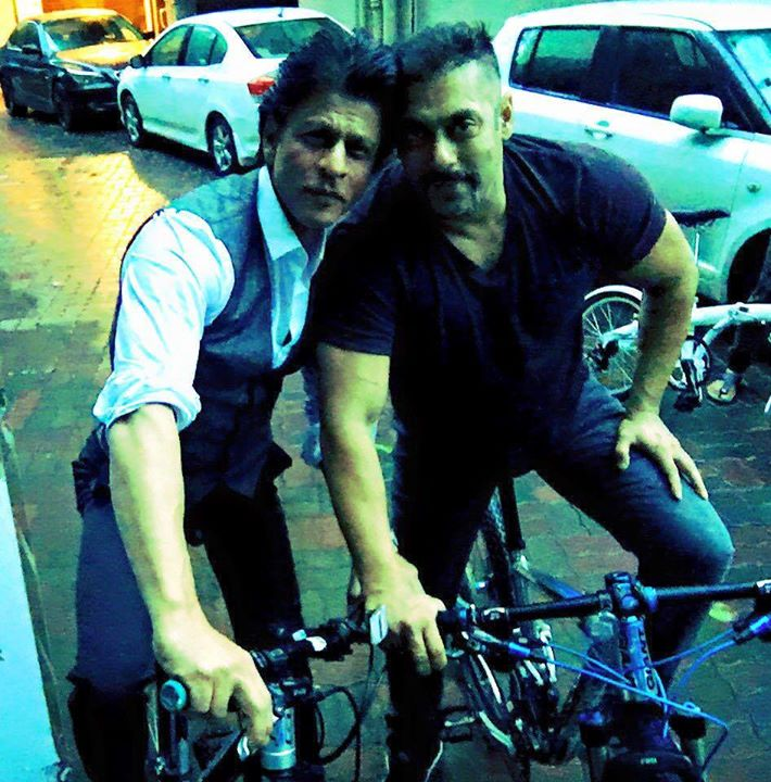 "Bhai bhai on bike bike. No pollution…bhai says ""Michael Lal Cycle Lal."""