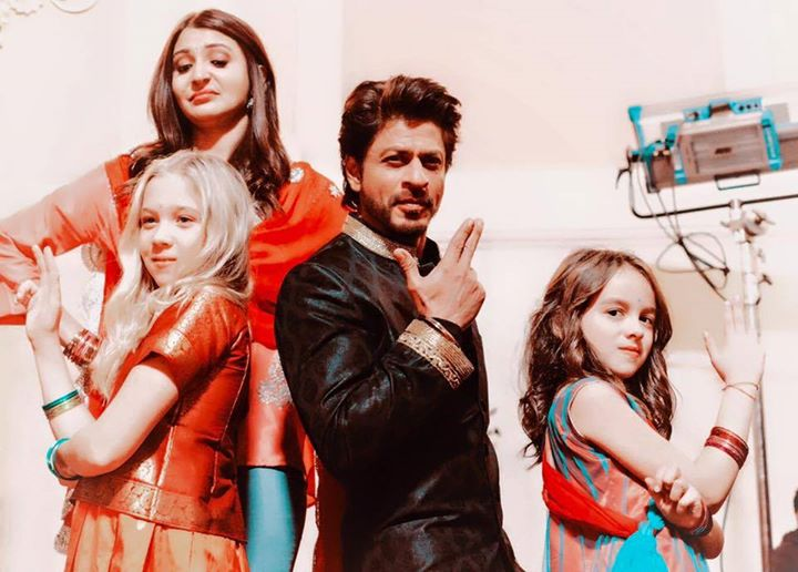 Desi Bond with Videsi lil ladies.Kids of the lovely production team in Budapest. Anushka Sharma seems not to approve.