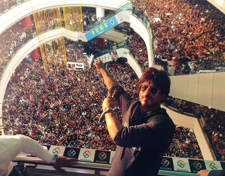 Thank u Pune. Symbiosis students & all at the Seasons mall…and all following me on the roads. Go for Raees now!