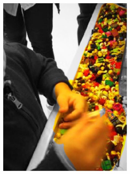 And the little one spreads the spirit of Holi with little Legos. As long as the happy colours colour us…