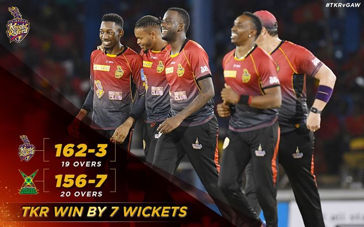 Once again well done boys. Trinbago Knight Riders team and the fans at the park…absolutely stunning.