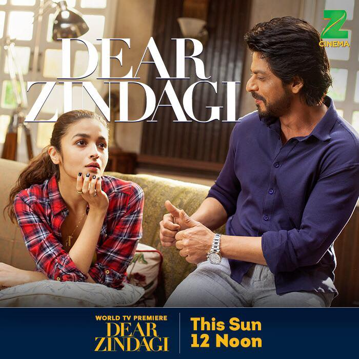 Sadness ko karo bye, Zindagi ko kaho hi! Catch me as Dr. Jehangir in Dear Zindagi, tomorrow, 12 noon on ZEE Cinema.  #DearZindagiOnZeeCinema