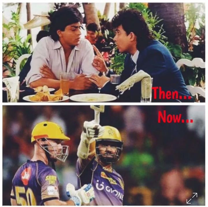 After Kabhi Haan Kabhi Naa in '94, Sunil n Chris come together to make 105... well played boys! Ami Kolkata Knight Riders...