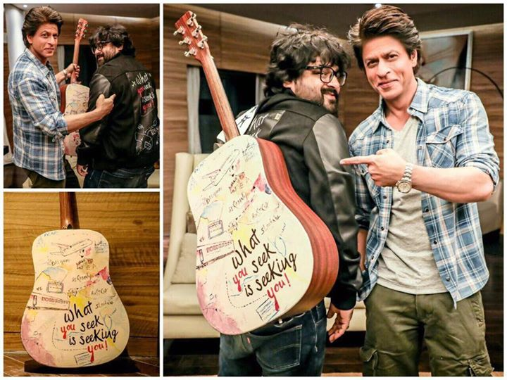 This guitar has had a Safar of its own. Gave it to Pritam before the film & he gifted me the beautiful music of JHMS in return...