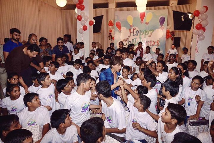 Over a hundred beautiful souls from the Spark a Change Foundation dropped in to visit me on set! Best #ChildrensDay ever...
