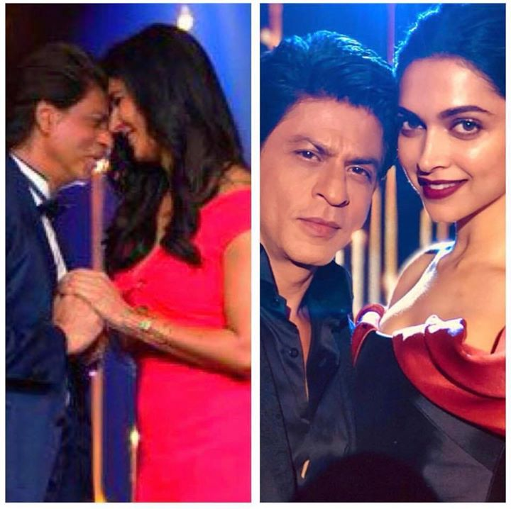 Hard day at work waltzing with the lovely Katrina & getting a hug from the beautiful Deepika. And they say actors have it easy!!!
