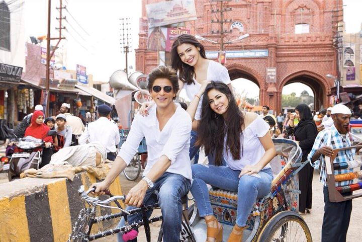 Best memories begin with insane ideas...Girls taking me along for a ride called #Zero Aanand L Rai Katrina Kaif Anushka Sharma