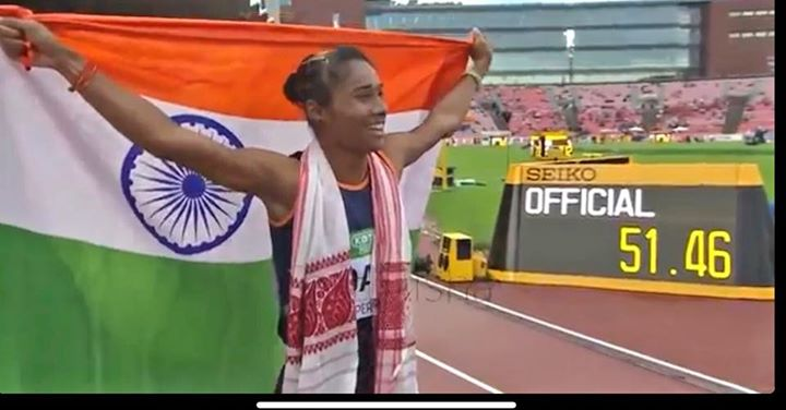 Woke up and felt a genuine wave of Pride Love & inspiration. What an amazing athlete you are...#HimaDas Kya Baat hai!