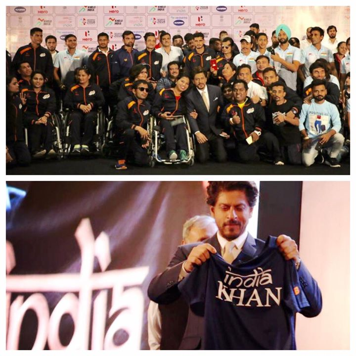 Thx to the Paralympic Committee of India & Mr. Rao  to allow me to get inspired by the Paralympic Contingent of boys & girls. Learnt the lesson of celebrating incompleteness with grit & courage. Jao & Chak Doh Phatte !! Lov & best wishes to all of u