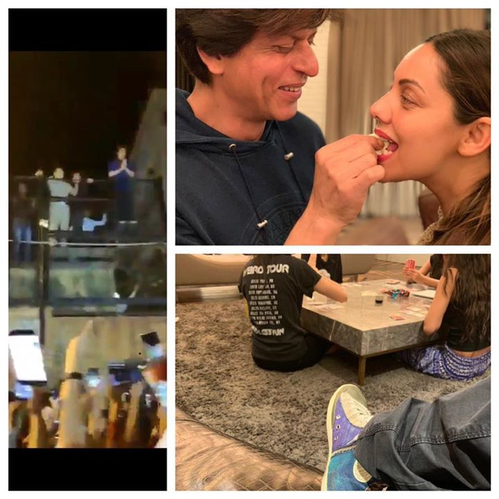 Fed cake to wife...Met my family of fans outside Mannat...now playing Mono Deal with my lil girl gang! Having a Happy Birthday. Thank u all...for this amazing love.