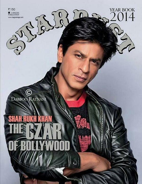 The Czar of Bollywood @iamsrk covers Stardust's Year Book 2014 http://t.co/u7kgC4Ivps