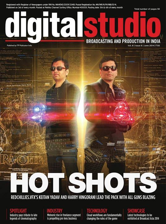 RT : Cover of the Digital Studio Magazine with the chief officers of Shah Rukh Khan's Red Chillies VFX (June 2014 issue)