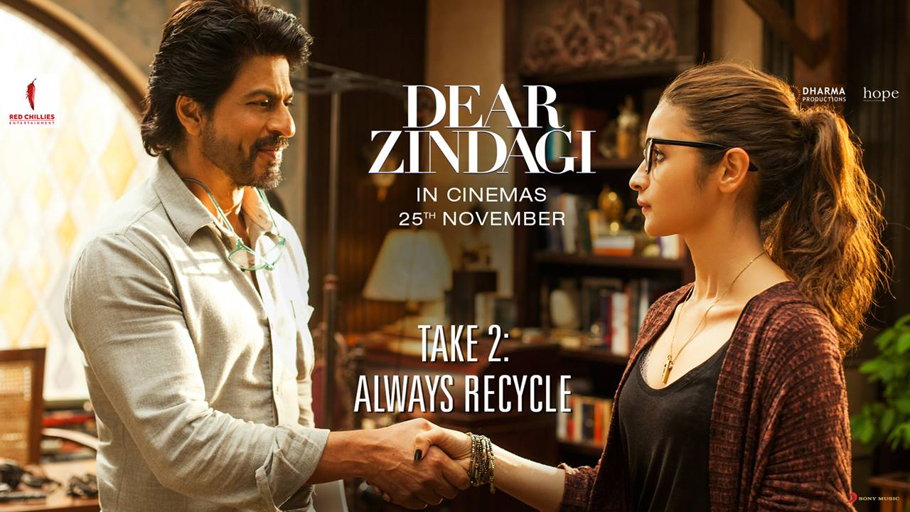When your jokes are beyond repair… recycle them. #DearZindagiTake2