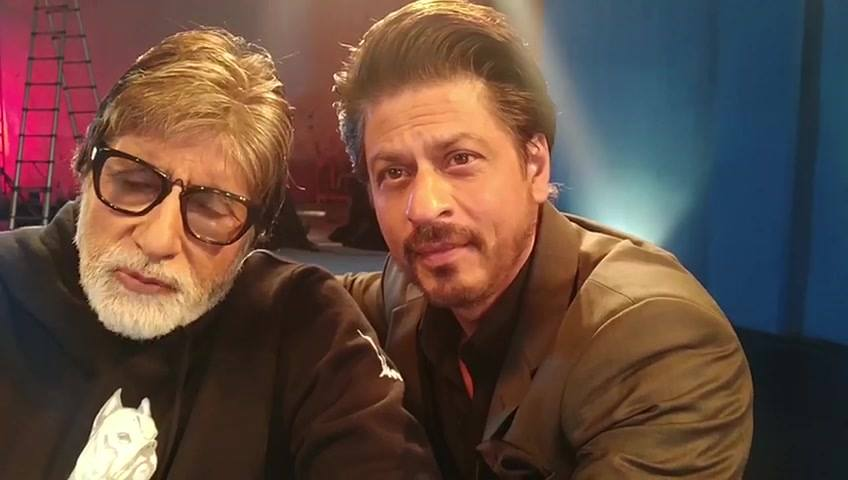 T4018 - एक ऐतिहासिक पल @SrBachchan sir के साथ | Amidst all the fun, love and talk...we also have a selfie video together!  Book your tickets for today: @bookmyshow: bookmy.show/Badla   @Paytm: m.p-y.tm/badla