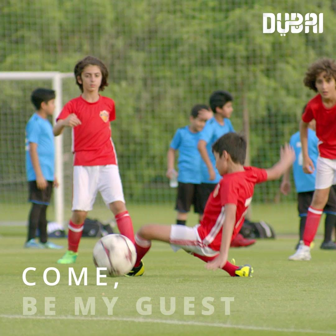 A little boy makes it to a big game in Dubai. Will he score the winning goal? Coming soon.   #BeMyGuest  http://bit.ly/2F5bNqt
