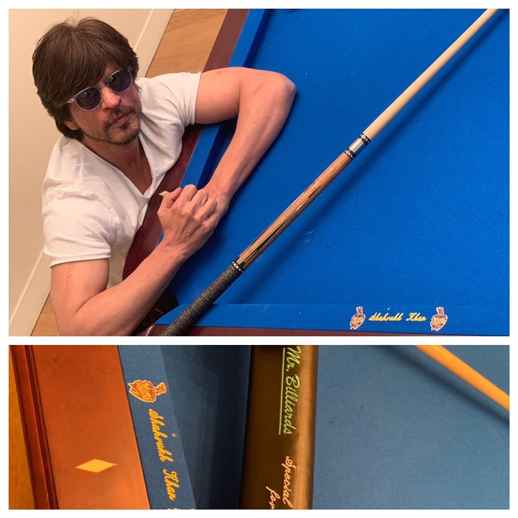 Tks @mysore.v for getting me a personalised pool table with TKR logo. Loving it Mr.Billiards @mrbilliardstt while listening to music on Tony's @radio905 @tkriders