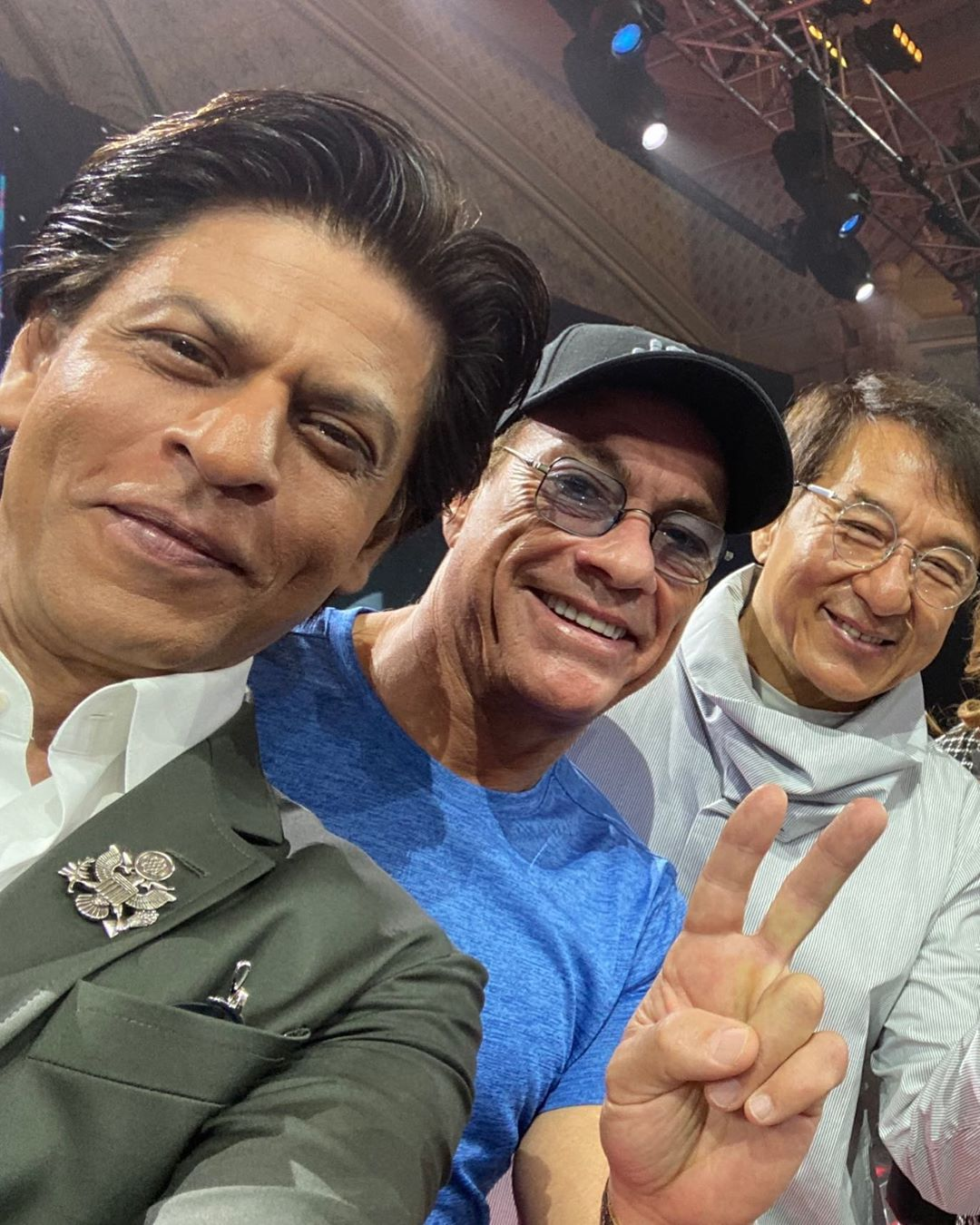 Khan, Damme, Chan at the #JoyForum19. The joys all mine as I got to meet my heroes. @jcvd @jackiechan @joyforumksa