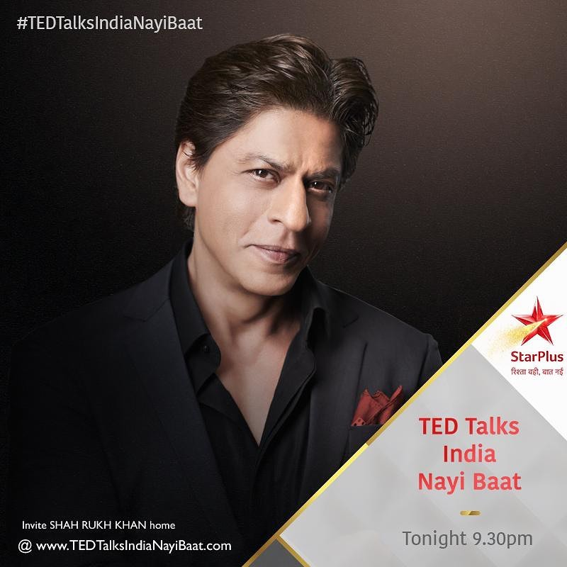 Don't miss #TEDTalksIndiaNayiBaat, Tonight at 9:30pm on @starplus , @hotstar , @ted , @natgeoindia and @starworldindia .