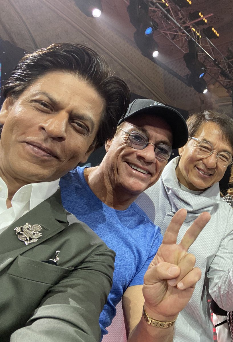 Khan, Damme, Chan at the #JoyForum19. The joys all mine as I got to meet my heroes.   @JCVD @EyeOfJackieChan @JoyForumKSA https://t.co/bwvmmJa2wy