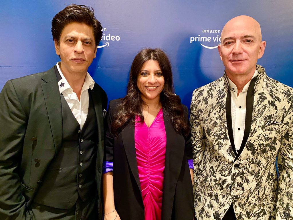 Fun and learning evening with the Zordaar #Zoyaakhtar & the Zabardast @jeffbezos Thanx everyone at @PrimeVideoIN for arranging this. Aparna, Gaurav & Vijay Thx for ur kindness. @AmitAgarwal ur bow tie was a killer... https://t.co/RQUi0854PZ